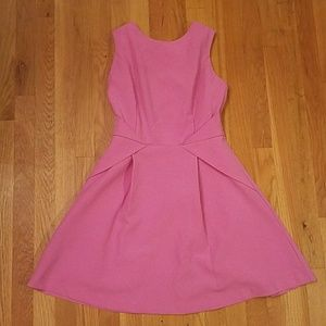Pink strappy party dress